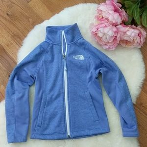 The North face zip up sweater